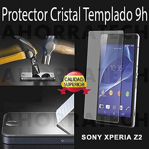 Protector pantalla cristal templado para SONY XPERIA Z2. film templado, vidrio templado ULTRA RESISTENTE y GRAN CALIDAD de