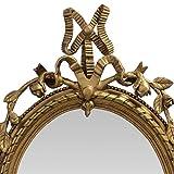 Tisch Spiegel Barock Stil Goldfarbe Stand Spiegel Schminktisch Kommode Antikstil - 3