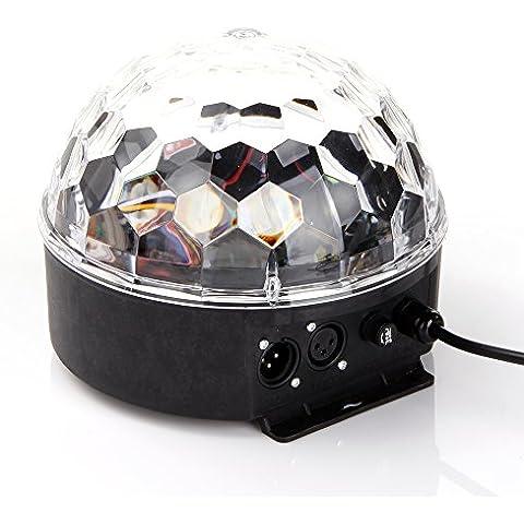 ANNT® LED RGB efecto de luz DMX512 de etapa, Lámpara Bola LED, Iluminación de Ambiente, Luz de iluminación automático activado por voz de Fiesta Discoteca Club Karaoke