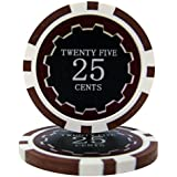 Bry Belly CPEC-25c 25 Roll of 25 - Eclipse 14 Gram Poker Chips - .25? - cent by Brybelly