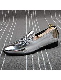 LOVDRAM Zapatos De Cuero Para Hombre Zapatos Casuales De Los Hombres Moda Charol Hombre Mocasines Mocasines