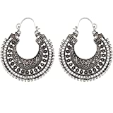 Bandish Antique Oxidised Silver Alloy Ho...
