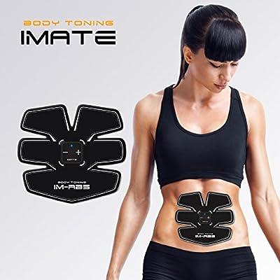 Abdominal Trainer, Fitness Massage Belt Waist Trainer Waist Trimmer Belt, Arm Strengthener Body Toner ABS Exercise Equipment Toning Belt Men Women Home Gym Machine by Bestoss