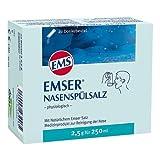 Emser Nasenspülsalz physiologisch - Nasendusche bei Erkältung, Allergie und zur Nasenpflege - 20 x 2,5 g Beutel