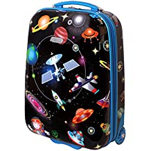 Karry Niños rígida equipaje de mano Maletín equipaje kabienent Trolley maletín infantil niño y niña LED Skater ruedas 28L Viaje Maleta Trolly 819