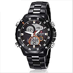 Led waterproof men's fashion Strip electronic watches