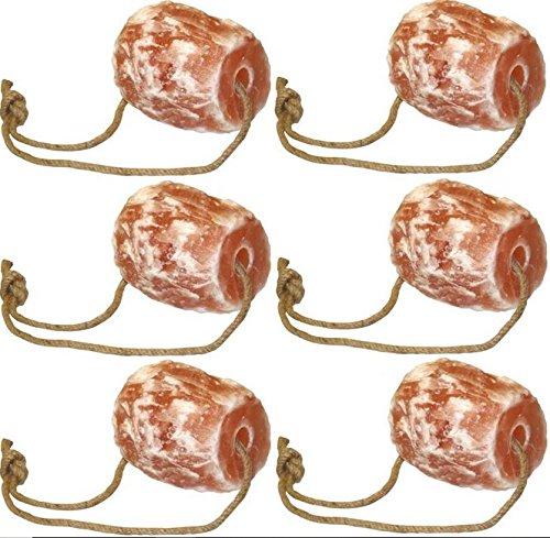 Cajou 2 €/kg 6 x Himalaya Pferdeleckstein (10,5 kg) mit Aufhängung