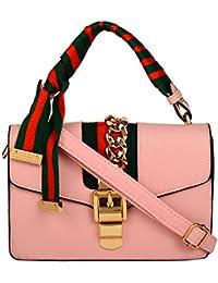 Lavu&me Women's Satchel ,girls Sling Bag &cross Body Bag ,handbag (Pink, LE065B)