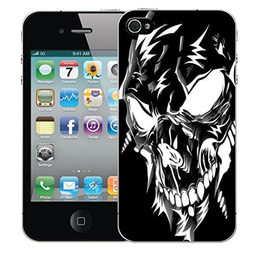 Nouveau iPhone 4s clip on Dur Coque couverture case cover Pare-chocs - noir sagittarius Motif avec Stylet black robotic