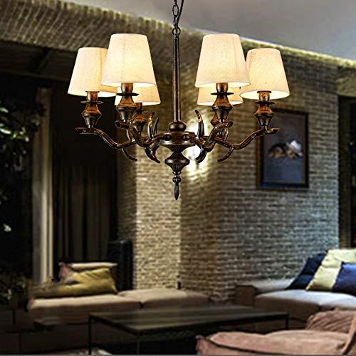 Kronleuchter Amerikanischen Retro Wohnzimmer Esszimmer Schlafzimmer Kunst Beleuchtung Designer Theme Bar KTV Box Schmiedeeisen Kronleuchter -