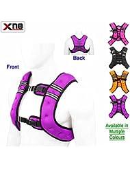 Xn8 Sports Gilet d'entraînement lesté 10kg pour perte de poids Réglable Poids amovible