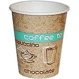 Vasos de cartón para bebidas calientes con inscripción Coffee To Go, 200ml, 50unidades