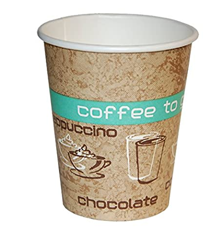 Coffee to Go Lot de 50 gobelets en carton pour