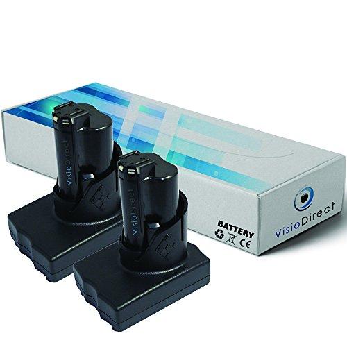 Lot de 2 batteries pour AEG Milwaukee 2458-21 cloueuse portative...
