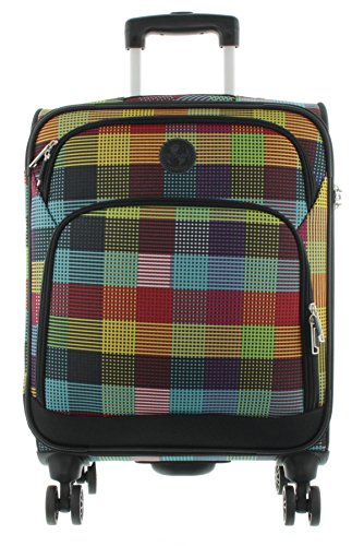 Franky Travel 4-Rad Kabinentrolley 55cm T1S check and stripes (Weichgepäck-räder)