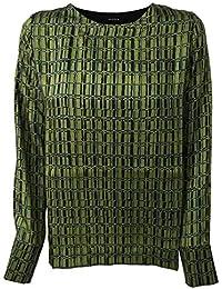 89c02aa6562f ALPHA STUDIO t-Shirt Donna Nero Verde Bimateriale MOD AD-9552C Made in