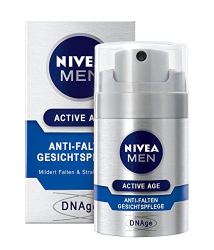 Nivea Men Active Age Anti-Falten Gesichtspflege im 1er Pack (1 x 50 ml), Gesichtscreme für Männer mildert Falten, mild duftende Feuchtigkeitscreme