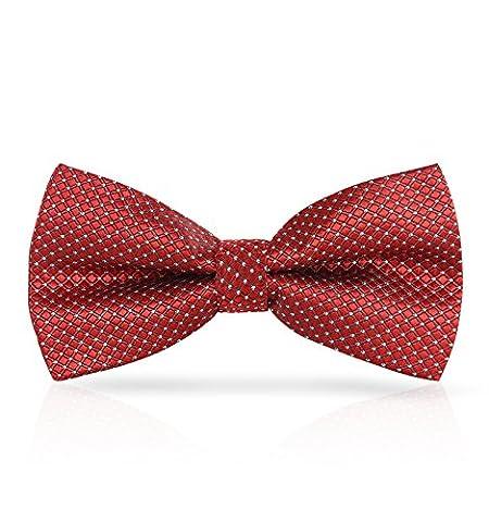 Dressystar Hochwertige Fliege Schleife für Smoking Business Hemd Rot Weiß Dot