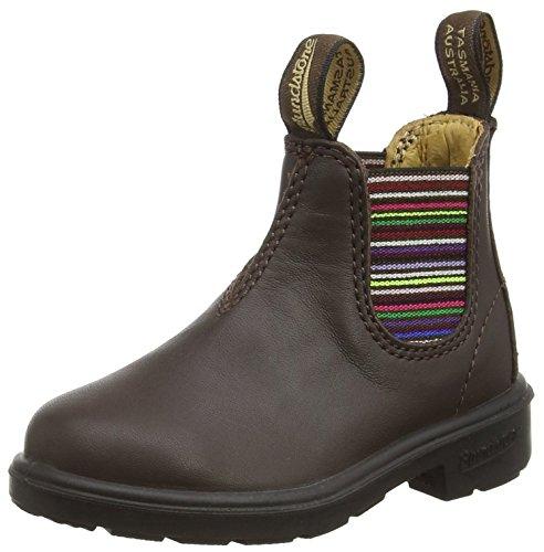 Blundstone Unisex-Kinder Classic Chelsea Boots, Braun (Brown/Stripped), 25 EU