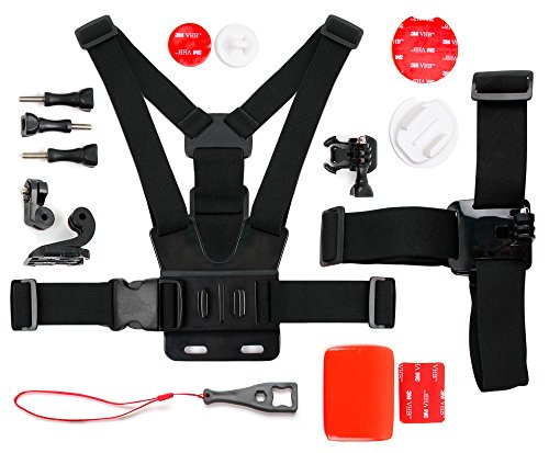 DURAGADGET Kit de Accesorios para cámaras Deportivas o cámaras de acción + Adaptador para Smartphone Doogee 5S / HP...