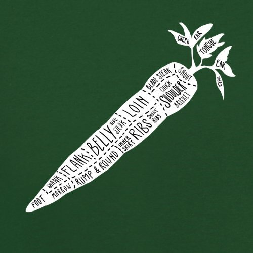 Butcher Carrot Diagram - Herren T-Shirt - 13 Farben Flaschengrün