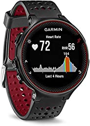 Garmin Forerunner 235 GPS Running Watch with Elevate Wrist Heart Rate and Smart Notifications, Black/Marsala R