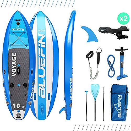 Bluefin SUP Aufblasbares Steh-Paddle Board | 10'10 Voyage-Modell | Stabiles Design | Komplett mit allem Zubehör -