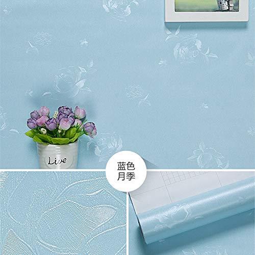lsaiyy wasserdichte tapete Selbstklebende einfarbige tapete schlafsaal Schlafzimmer Hintergrund wandaufkleber PVC Dekoration warme möbel renovierung Aufkleber tapete-60 cm X 3 M -