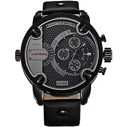 PIXNOR WEIDE 3301 Waterproof Men's Wrist Watch with PU Band