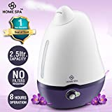 #2: Home Spa Luxury Cool Mist Dolphin Humidifier for Adults and Baby Bedroom (2.5 Liters capacity )