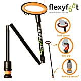 Flexyfoot Adjustable Folding Walking Stick with Oval Handle - Black (825-975mm)