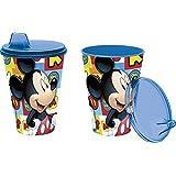 Mickey Mouse - Vaso con tapa y sipper 430 ml (Stor 19084)