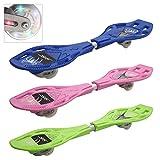 COSTWAY Waveboard Casterboard Surfboard Skateboard Streetboard Caster Board Leuchtrollen inkl. Tasche (Rosa)
