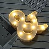 DIY LED Brief Beleuchtung Alphabet Event Dekoration Nachtlichter Stimmungslicht Schlummerleuchten