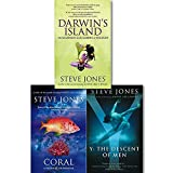 Steve Jones Collection 3 Books Set, (Coral A Pessimist Paradise, Darwin's island and Y the Descent of Men)