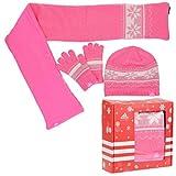 Adidas K Gift Set Geschenk Set Handschuhe Mütze Schal Kids Girls rosa W64933, Bekleidungsgröße:S