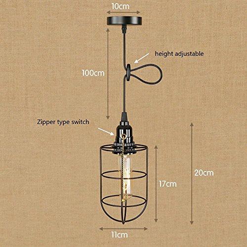 OOFAY Industrial Retro Metal Bird Cage Hanging Light Loft Bar Pendant Ceiling Light Lamp Fixture Chandelier (1 pendant light, Antique) , j
