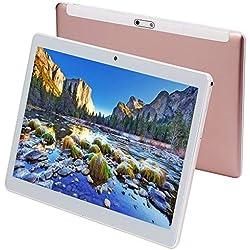 Tablet da 10 pollici Android 7.0, processore Octa-Core, 2 GHz, 64 GB di archiviazione, 4 GB di RAM, doppia fotocamera, WiFi, GPS, Bluetooth 4.0,1280 x 800 IPS Ultra Slim 3D Game supportato (Rosa)