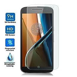Electrónica Rey Protector de Pantalla para Motorola Moto G4, Cristal Vidrio Templado Premium