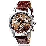 Herren Uhren,Moeavan Männer Quarzuhr im Angebot Analog Business Casual Fashion Armbanduhr Herren Günstige Leder Uhr (Braun)