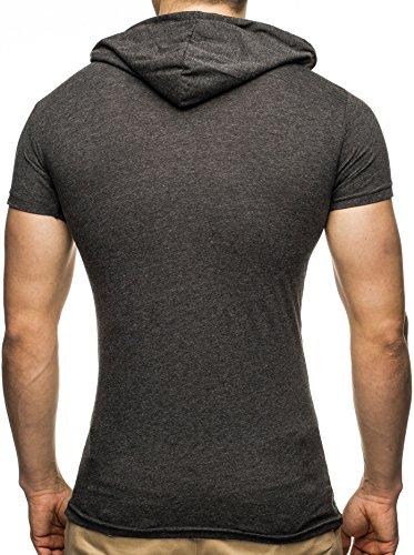 LEIF NELSON -  T-shirt - Uomo Anthrazit-GrŸn