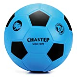 Chastep Normale 20cm PU-Schaumstoffball Fußball Softfußball soccerball softball foamball für Kinder (Blau/Schwarz)
