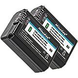2x Minadax® Batterie de qualité avec véritable 900mAh pour Sony a55, A33, A35, A37, NEX-6, NEX-7Serie, série NEX-3, NEX-5Serie etc–Comme NP-FW50–Système de batterie intelligent avec puce