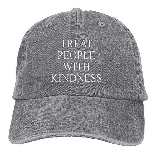 Traitez Les Gens avec gentillesse Mode Denim en Coton Coton Sport Outdr Baseball Hat Réglable One Size Ash Ash 01Y441