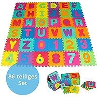 Panorama24 Puzzlematte für Babys und Kinder, Spielteppich Spielmatte Lernteppich Kinderspielteppich Schaumstoffmatte Matte bunt, 86 tlg. ca. 180x180 cm preisvergleich bei kleinkindspielzeugpreise.eu