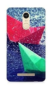 AMEZ designer printed 3d premium high quality back case cover for Xiaomi Redmi Note 3 (rain boats)