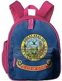 Flag of Idaho Kid and Toddler Student Backpack School Bag Super Bookbag