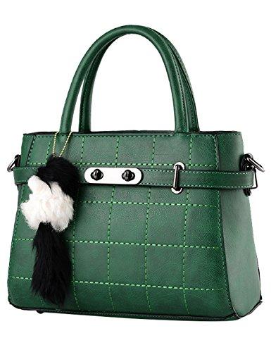Menschwear Leather Tote Bag lucida PU nuove signore borsa a tracolla Vino Rosso Verde