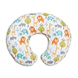 Chicco 08079902430000 Boppy Cuscino Allattamento, Bianco (Bianco Peaceful Jungle)