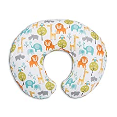 Idea Regalo - Chicco 08079902430000 Boppy Cuscino Allattamento, Bianco (Bianco Peaceful Jungle)